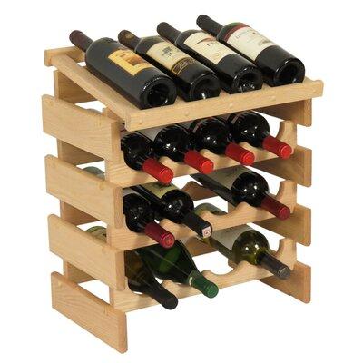 Dakota 16 Bottle Floor Wine Rack Finish: Unfinished