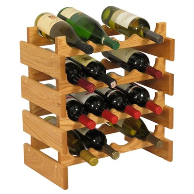 Dakota 16 Bottle Floor Wine Rack Finish: Light Oak