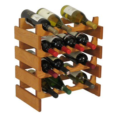 Dakota 16 Bottle Floor Wine Rack Finish: Medium Oak