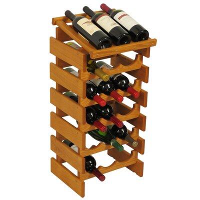 Dakota 18 Bottle Floor Wine Rack Finish: Medium Oak