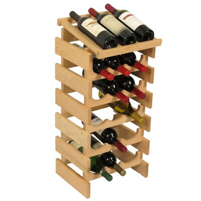 Dakota 18 Bottle Floor Wine Rack Finish: Unfinished