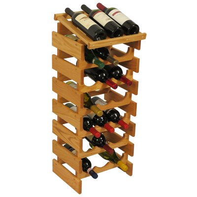 Dakota 21 Bottle Floor Wine Rack Finish: Black