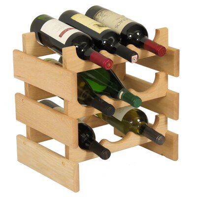 Dakota 9 Bottle Tabletop Wine Rack Finish: Unfinished