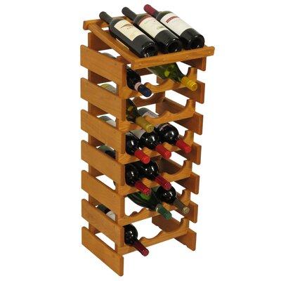 Dakota 21 Bottle Floor Wine Rack Finish: Medium Oak