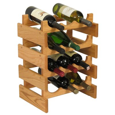 Dakota 12 Bottle Floor Wine Rack Finish: Black