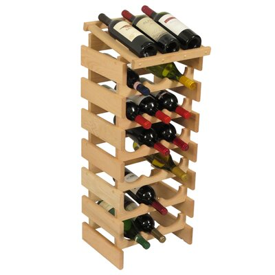 Dakota 21 Bottle Floor Wine Rack Finish: Unfinished