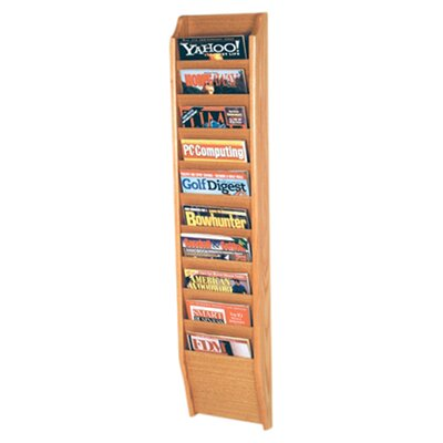 Wooden Mallet 10 Pocket Wall Mount Magazine Rack - Wood Finish: Light Oak at Sears.com