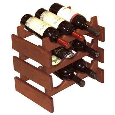 Dakota 9 Bottle Tabletop Wine Rack Finish: Mahogany