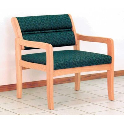 Valley Bariatric Guest Chair Wood Finish: Light Oak, Fabric: Vinyl Green, Frame Type: Straight Leg