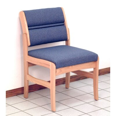 Standard Leg Guest Chair Finish: Medium Oak, Seat Color: Powder Blue, Arm Options: Not Included