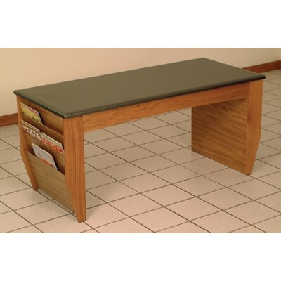 Dakota Coffee Table with Magazine Pockets Color: Medium Oak
