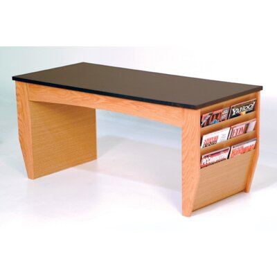 Dakota Coffee Table with Magazine Pockets Finish: Light Oak