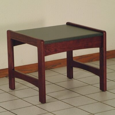 Dakota Wave End Table Color: Dark Red Mahogany