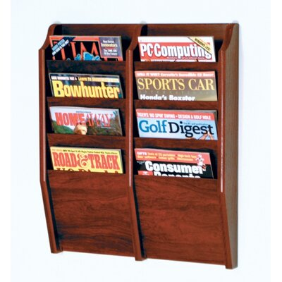Wooden Mallet Eight Pocket Wall Mount Magazine Rack - Wood Finish: Dark Red Mahogany at Sears.com