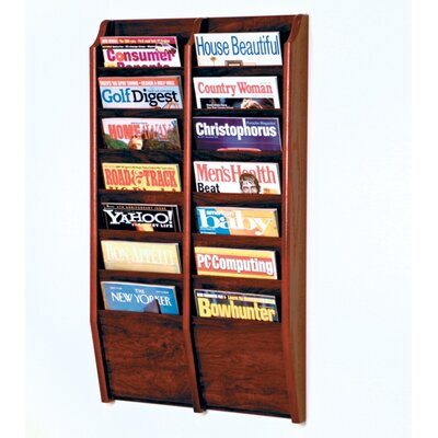 Wooden Mallet Fourteen Pocket Wall Mount Magazine Rack - Wood Finish: Dark Red Mahogany at Sears.com