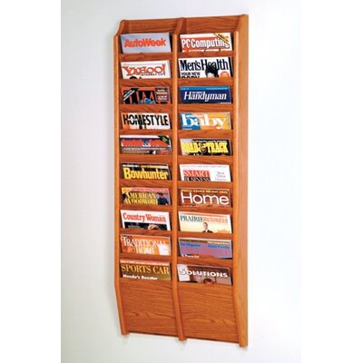 Wooden Mallet Twenty Pocket Wall Mount Magazine Rack - Wood Finish: Dark Red Mahogany at Sears.com