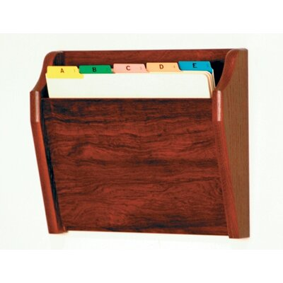 Single Tapered Pocket Chart Holder Wood Finish: Dark Red Mahogany