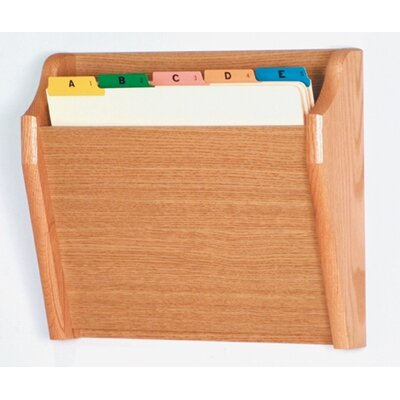 Single Tapered Pocket Chart Holder Wood Finish: Light Oak