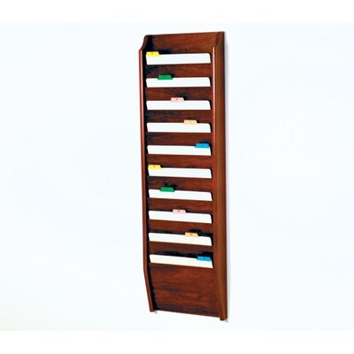 Ten Pocket Chart Holder Wood Finish: Dark Red Mahogany