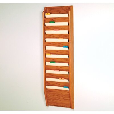 Ten Pocket Chart Holder Wood Finish: Medium Oak