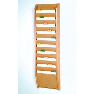 Ten Pocket Chart Holder Wood Finish: Light Oak