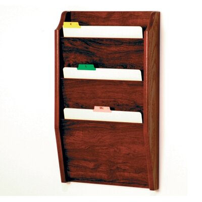 Three Pocket Chart Holder Wood Finish: Dark Red Mahogany