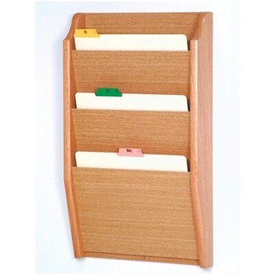Three Pocket Chart Holder Wood Finish: Light Oak
