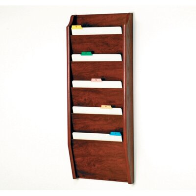 Five Pocket Chart Holder Wood Finish: Dark Red Mahogany