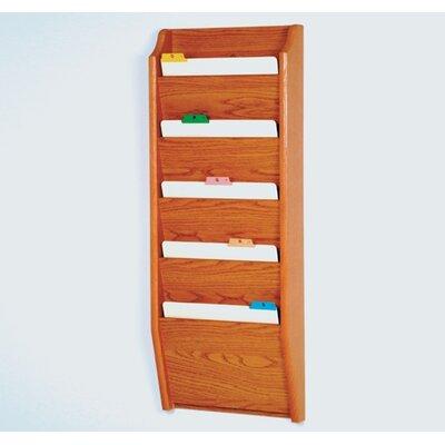 Five Pocket Chart Holder Wood Finish: Medium Oak