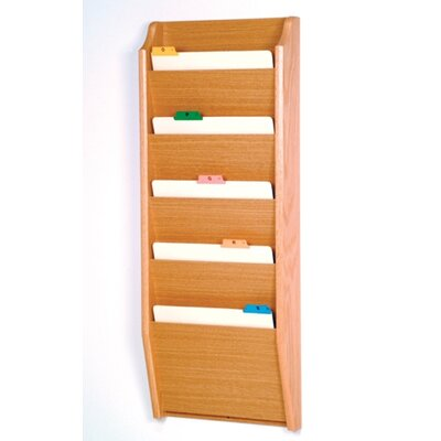 Five Pocket Chart Holder Wood Finish: Light Oak