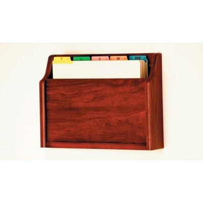 Single Pocket Chart Holder Wood Finish: Dark Red Mahogany