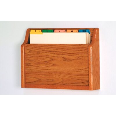 Single Pocket Chart Holder Wood Finish: Medium Oak