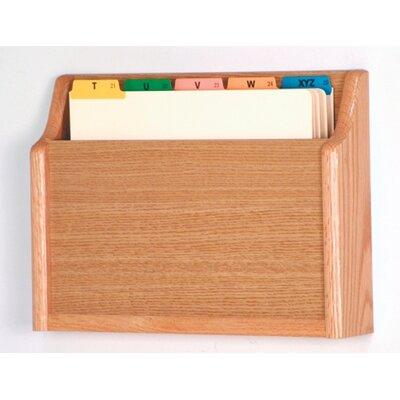 Single Pocket Chart Holder Wood Finish: Light Oak
