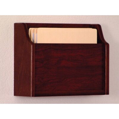Extra Deep Single Pocket Chart Holder Wood Finish: Dark Red Mahogany