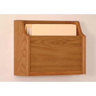 Extra Deep Single Pocket Chart Holder Wood Finish: Medium Oak