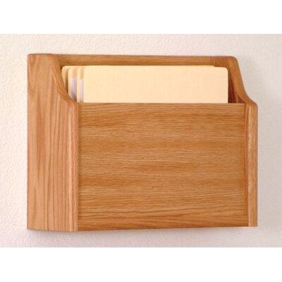 Extra Deep Single Pocket Chart Holder Wood Finish: Light Oak