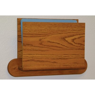 Open End Single Chart Holder - HIPPAA Compliant Wood Finish: Medium Oak