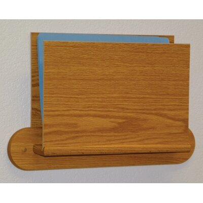 Open End Single Chart Holder - HIPPAA Compliant Wood Finish: Light Oak