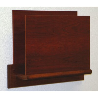 Open End Single Chart Holder - HIPPAA Compliant Wood Finish: Dark Red Mahogany