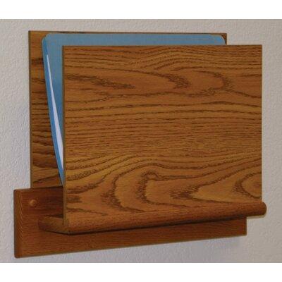 Open End Single Chart Holder - HIPPAA Compliant Wood Finish: Medium Oak