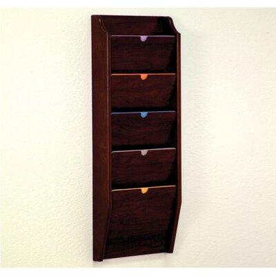 Five Pocket HIPPAA Compliant Chart Holder Wood Finish: Dark Red Mahogany