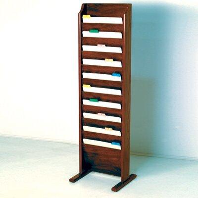 Free Standing Ten Pocket Chart Holder Wood Finish: Dark Red Mahogany