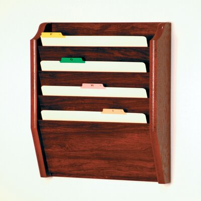 Four Pocket Legal Size File Holder Finish: Mahogany