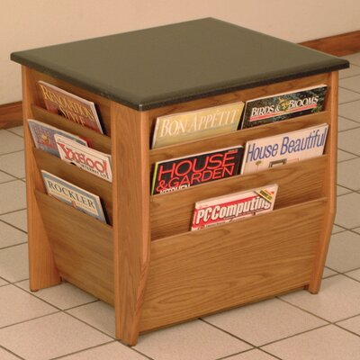 Dakota Wave End Table with Magazine Pockets Color: Medium Oak