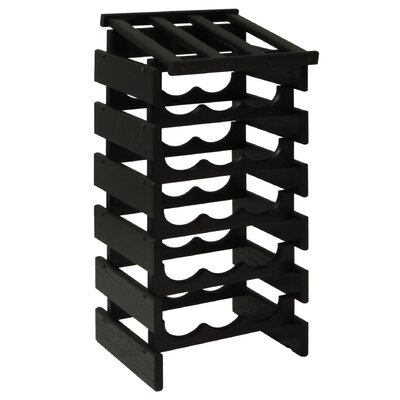 Dakota 18 Bottle Floor Wine Rack Finish: Black
