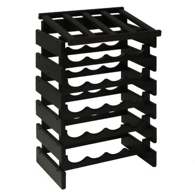 Dakota 24 Bottle Floor Wine Rack Finish: Black
