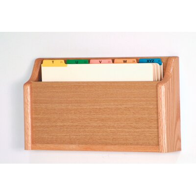 Single Pocket Square Bottom Legal Size File Holder Finish: Light Oak