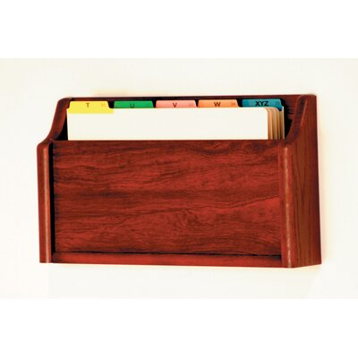 Single Pocket Square Bottom Legal Size File Holder Finish: Mahogany