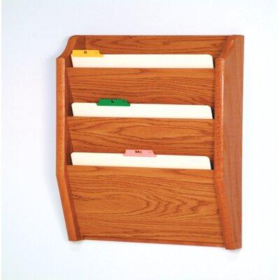 Three Pocket Legal Size File Holder Finish: Medium Oak