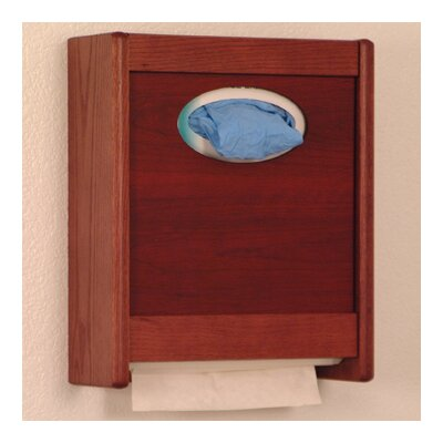 Combo Towel Dispenser and Glove/Tissue Holder Finish: Mahogany